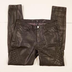 H&M Faux Leather Moto Pants Size 10